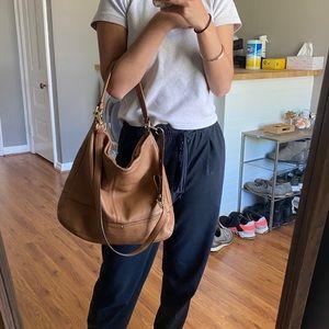 Coach Brown leather hobo bag